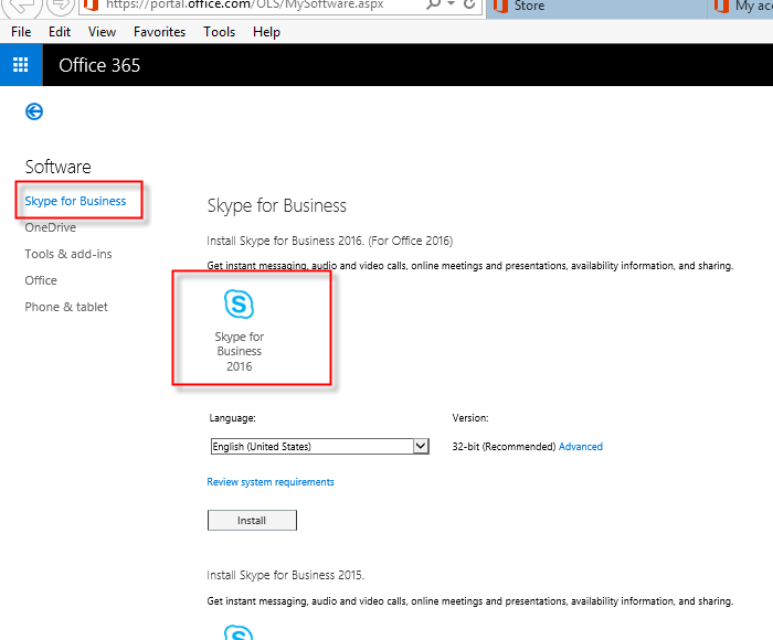 Step 3 - Skype for Business on Windows With Office 365