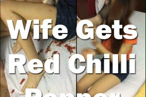 Wife Caught Cheating Gets Red Chilli Pepper