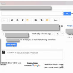 Recent Google Docs Phishing Scam on Gmail