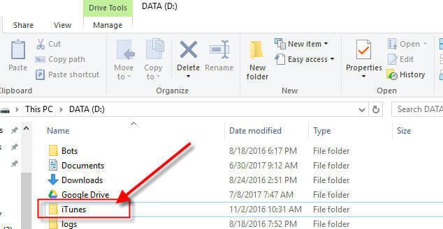 Add Folder to Windows Library - iTunes