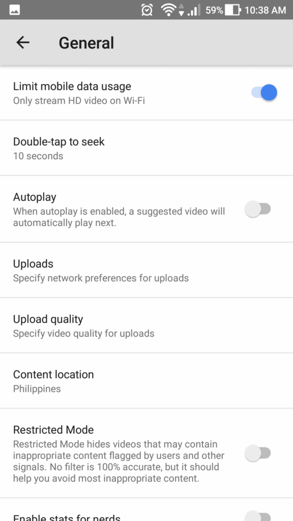 YouTube Internet Data Tweaks