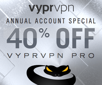 Get 25% Off Annual VyprVPN Accounts