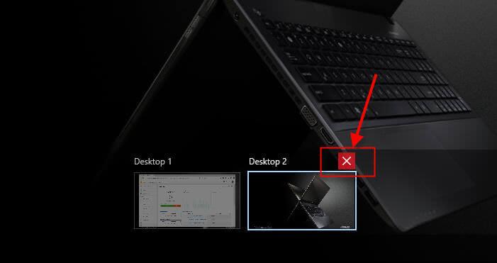 Closing a Windows 10 Virtual Desktop