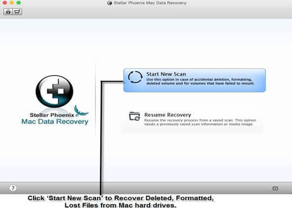 Mac Data Recovery - Step 1