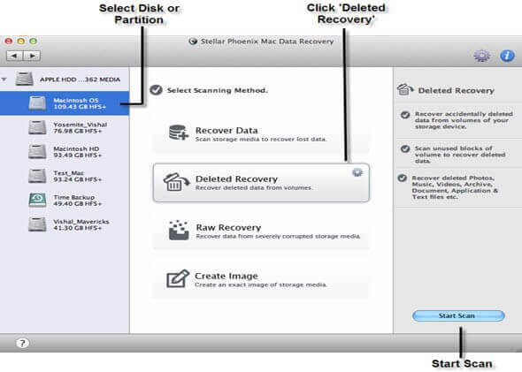 Mac Data Recovery - Step 3