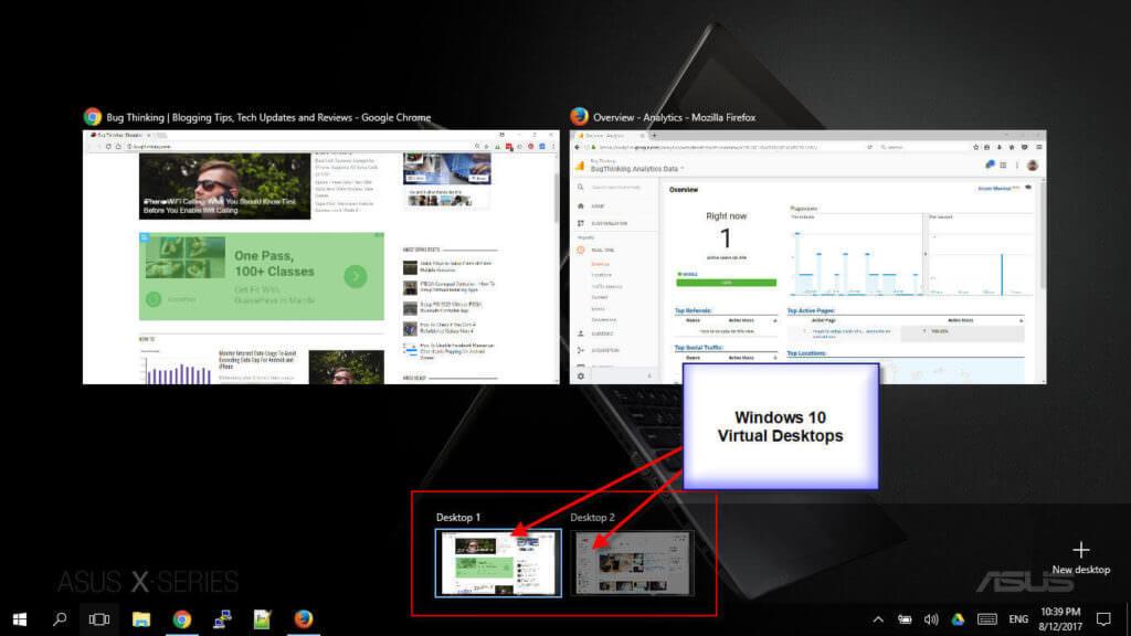Windows 10 Virtual Desktop Manager