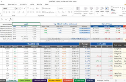Pse Trading Journal Spreadsheet V8 1 What S New Why You Need It