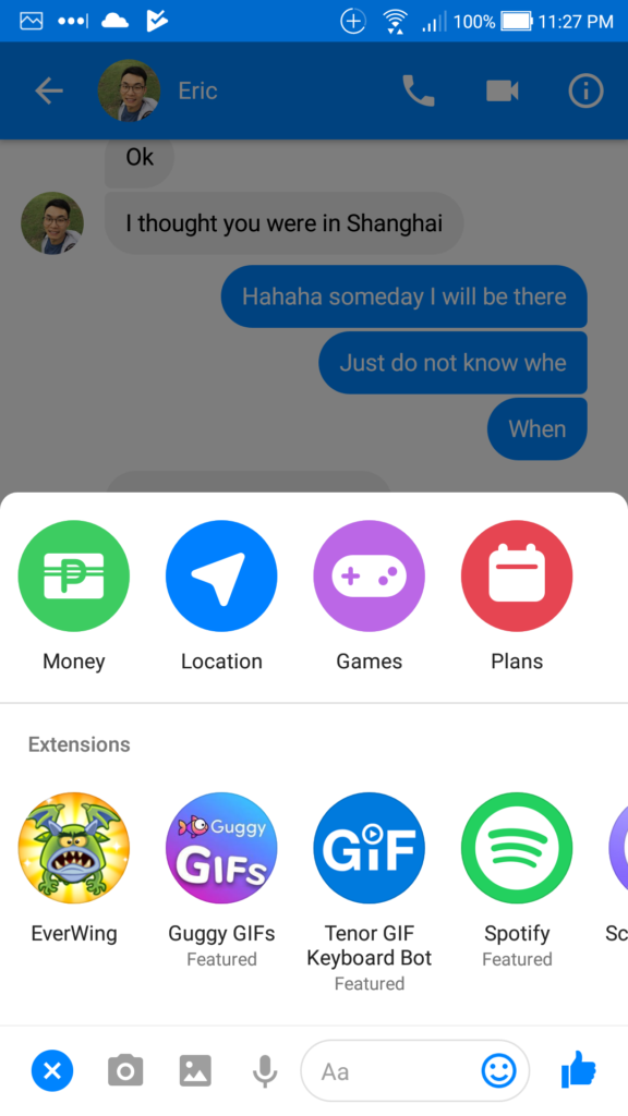 FB Messenger Enable Share Location