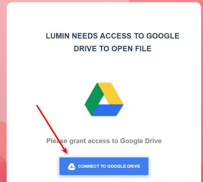Google Drive - Grant Access To Lumin