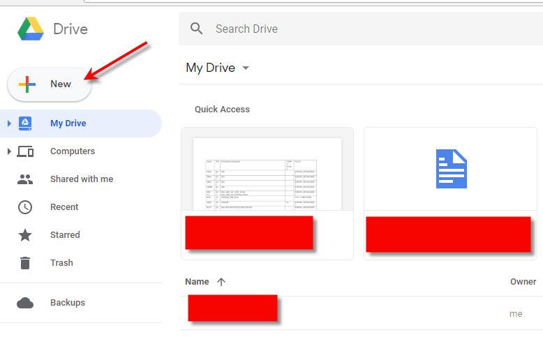 Google Drive - New