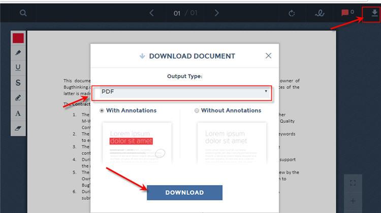 Google Drive - Save as PDF using Lumin app
