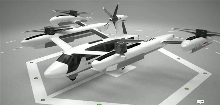 Autonomous Car eVTOL Flight On-Demand Flying Taxi
