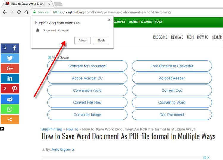 Google Chrome Desktop Notifications