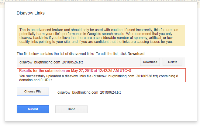 Google Search Console Disavow Links
