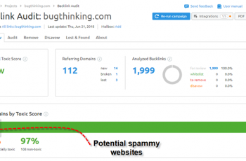 SEMRUSH Backlink Audit Tool Overview