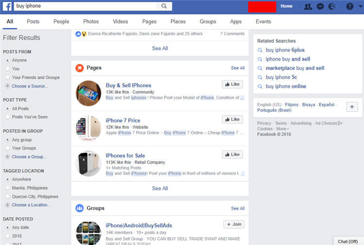 Buy and Sell iPhone on Facebook