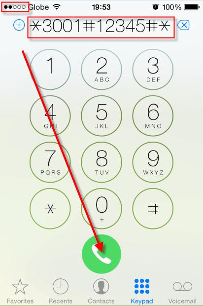 iPhone Field test mode