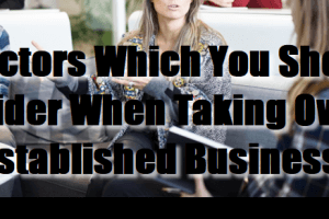 5 Factors Which You Should Consider When Taking Over an Established Business