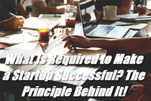What Is Required to Make a Startup Successful? The Principle Behind It!