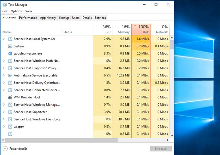 Fix Windows 10 Superfetch 100 Percent Disk Usage Consumption