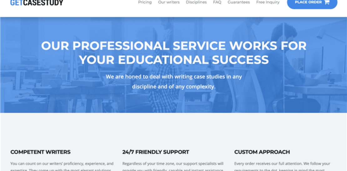 GetCaseStudy writing service