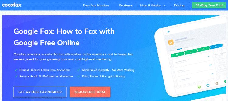 Cocofax Google Fax
