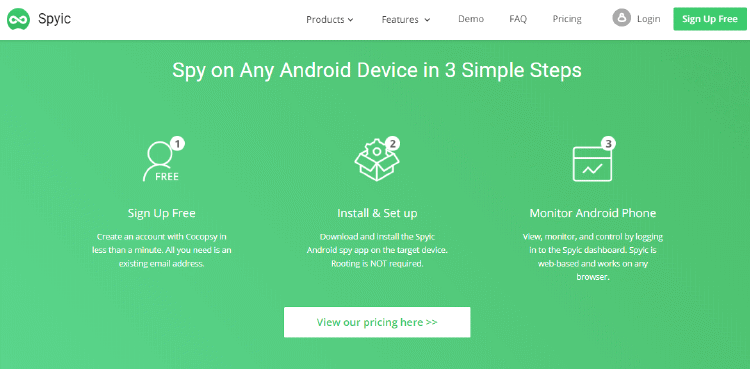 Spy on Android with Spyic
